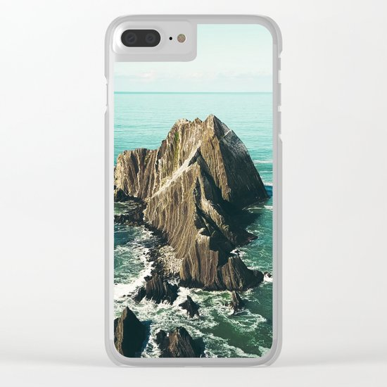 Island green sea Clear iPhone Case