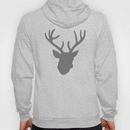 Deer Head: Grey Hoody