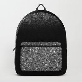 Black & Silver Glitter Ombre Backpack