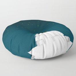 Star gazing - Penguin's dream of flying Floor Pillow