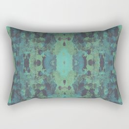 Sycamore Kaleidoscope - Graphite blue green Rectangular Pillow