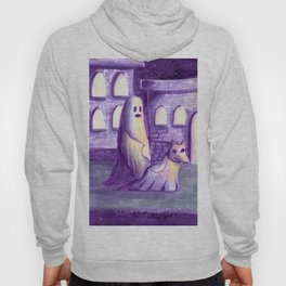 ghost and dog horror painting Hoody