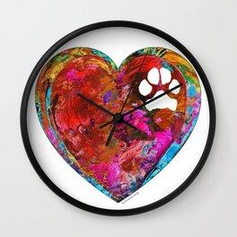 Dog Art - Puppy Love 2 - Sharon Cummings Wall Clock