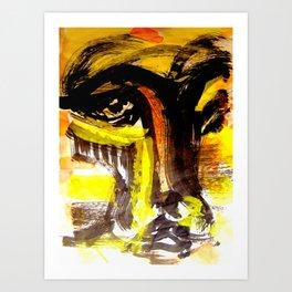 a concerned eye..... Art Print