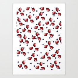 Berry Fields Art Print