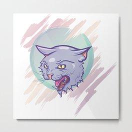 Space Kat Metal Print