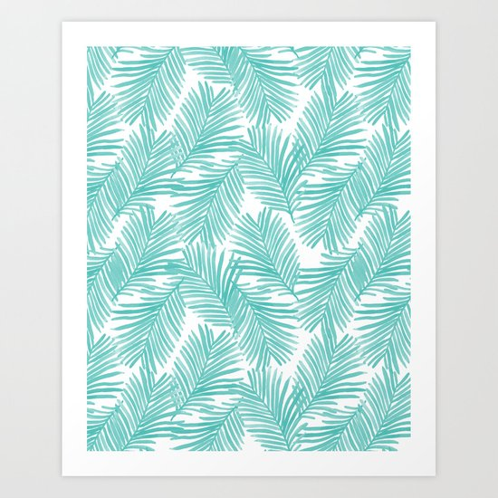 Palm tropical indoor house plants nature botanical vacation island summer surfing beach hipster Art Print