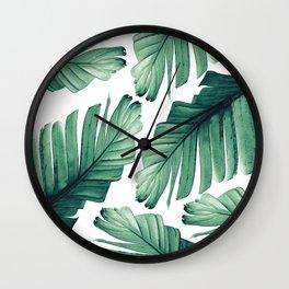 Tropical Banana Leaves Dream #3 #foliage #decor #art #society6 Wall Clock