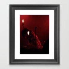 Red singer Framed Art Print