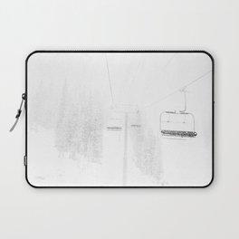 Ski Lift  // Black and White Snowy Climb Whiteout Foggy Minimal Epic Indie Alpine Photograph Laptop Sleeve