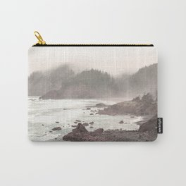 Pacific Ocean Beach Landscape Oregon Coast Northwest PNW Volcano Forest Nature Outdoors Basalt Wilde Carry-All Pouch