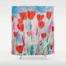 Wild Poppies Shower Curtain