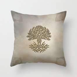 The celtic tree Throw Pillow