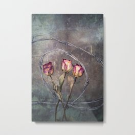 Trapped Roses Metal Print