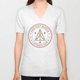 I Attract Love activated magickal sigil valentines day shirt gift Unisex V-Neck
