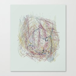 RoseBud Meshwork Canvas Print