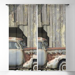 Happy Father's Day Dad Vintage Automobile and Weathered Barn Blackout Curtain