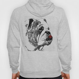 Bulldog Pop Art - How Bout A Kiss 2 - By Sharon Cummings Hoody