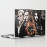 legolas Laptop & iPad Skins featuring kili,legolas,tauriel,the hobbit,lord of the rings by ira gora