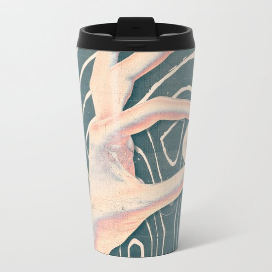 "Lost & Found ""Hand"" Metal Travel Mug"