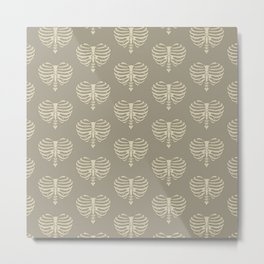 Heart Shaped Rib Cage Metal Print
