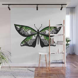 Fly With Pride: Aromantic Flag Butterfly Wall Mural