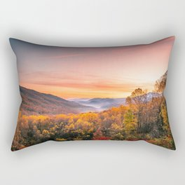 Autumn Sunrise in the Great Smoky Mountains of Tennessee Rectangular Pillow