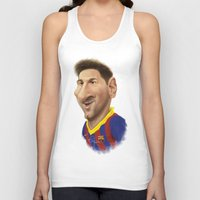 messi Tank Tops featuring Messi - Barcelona by Sant Toscanni