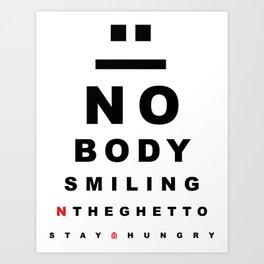"""Nobody Smiling"" 20/20 Vision - Bred Art Print"