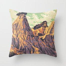 Dinosaur Provincial Park Throw Pillow