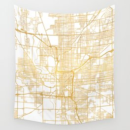 INDIANAPOLIS INDIANA CITY STREET MAP ART Wall Tapestry
