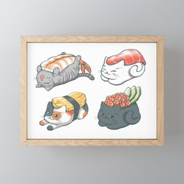 Sushi Cats Framed Mini Art Print