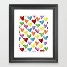 Hearts Parade Framed Art Print