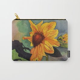 Small Sunflower Carry-All Pouch