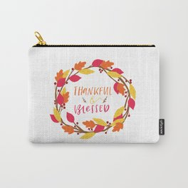 Thankful & Blessed Carry-All Pouch