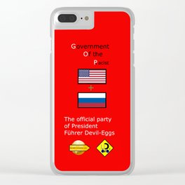 G. O. P. with President Führer Devil-Eggs Clear iPhone Case