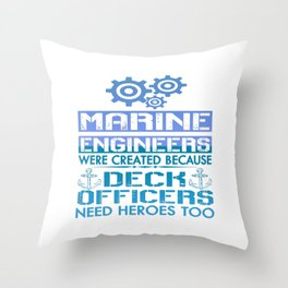 MARINE ENGINEERS Throw Pillow