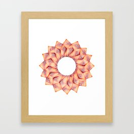 Threaded Lotus Framed Art Print