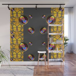 SURREAL IRIDESCENT SOAP BUBBLES & BUTTERFLIES Wall Mural