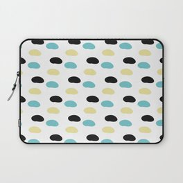 Blue and yellow polka dots Laptop Sleeve