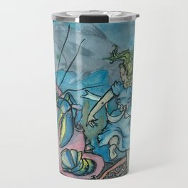 Alice in Lobsterland Travel Mug