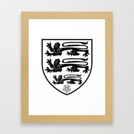British Three Lions Crest Framed Art Print