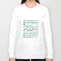 slytherin Long Sleeve T-shirts featuring Slytherin by husavendaczek
