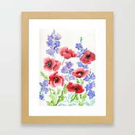 Poppies and Bells Framed Art Print