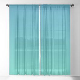 Mosaic Blue and Biscay Gradient Sheer Curtain