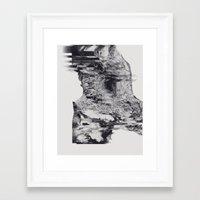 glitch Framed Art Prints featuring GLITCH by Pliska Dasha