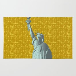 Statue of Liberty on Gold-leaf Screen Rug
