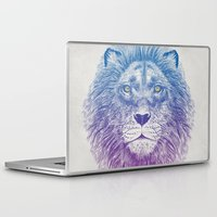 kitty Laptop & iPad Skins featuring Face of a Lion by Rachel Caldwell