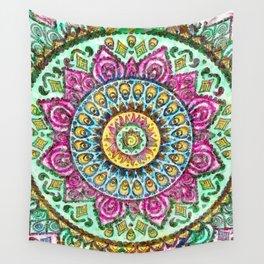 Mandala Technicolor Wall Tapestry