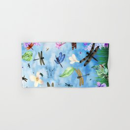 There Be Dragons - Dragonfly Fantasy Hand & Bath Towel